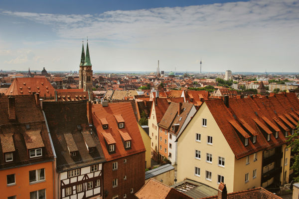 The picture shows the city of Nuremberg.