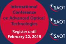 "Towards entry ""SAOT International Conference on Advanced Optical Technologies – Registration open until February 22nd, 2019"""