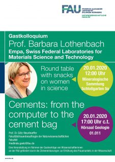 "Towards entry ""Guest lecture: ""Cements: from the computer to the cement bag"""""